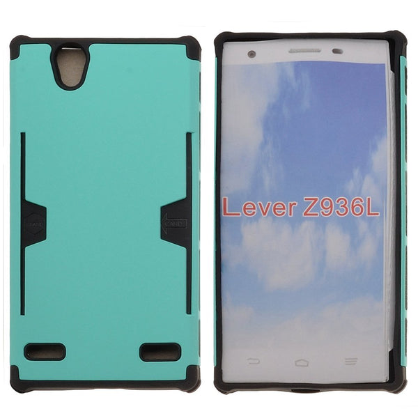 ZTE Lever LTE | Z936L Case, Slim Hard Dual Layer Armor Cover with Card Slots