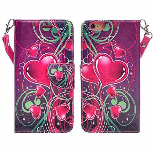 iphone 6 case, iphone 6 wallet case - heart strings - www.coverlabusa.com