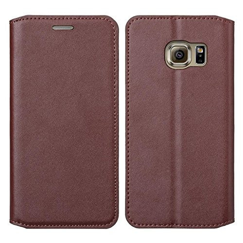samsung galaxy S7 cover, galaxy S7 real leather case - Brown - www.coverlabusa.com