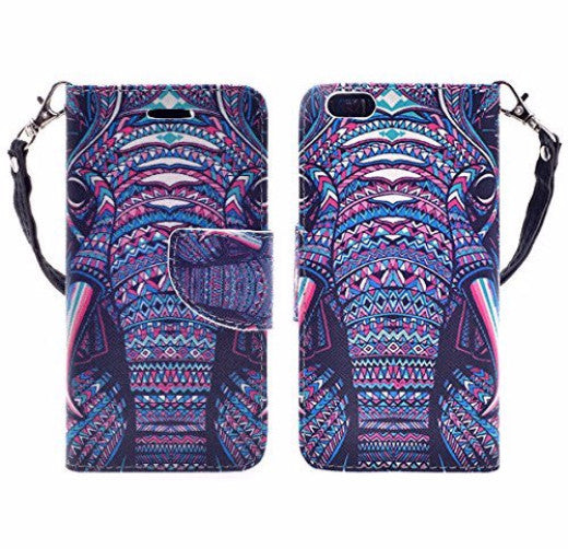 iphone 6 case, iphone 6 wallet case - tribal elephant - www.coverlabusa.com