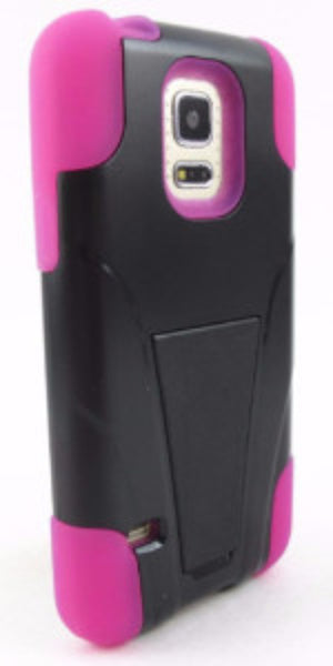 samsung galaxy s5 case with kickstand - hot pink - www.coverlabusa.com