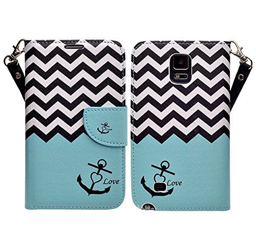 samsung galaxy note 4 wallet case - teal anchor - www.coverlabusa.com