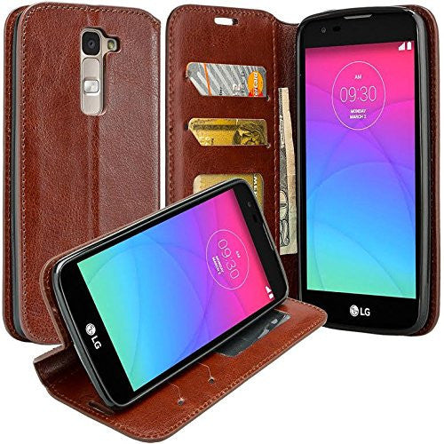 new product 2097e e9599 Onetouch Evolve 2 Case, Flip Fold [Kickstand Feature] Pu Leather Wallet  Case with ID & Credit Card Slots For Alcatel Onetouch Evolve 2 - Brown
