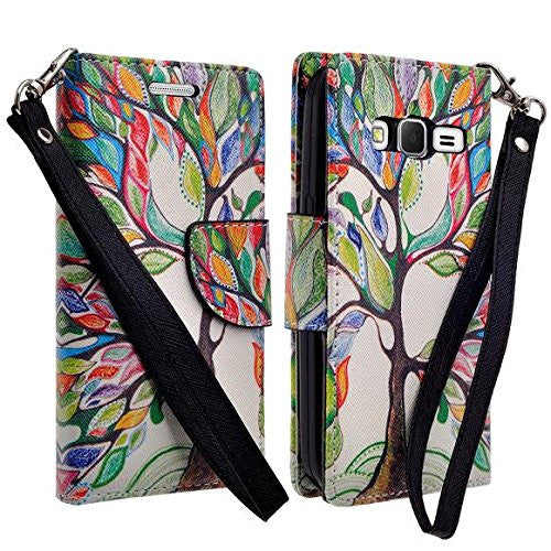 Galaxy Go Prime / Grand Prime Wallet Case, colorful tree www.coverlabusa.com