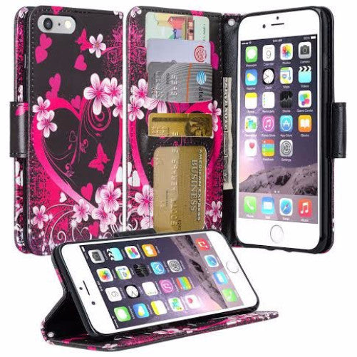 Apple iPhone 8 wallet case - flower lilies - www.coverlabusa.com
