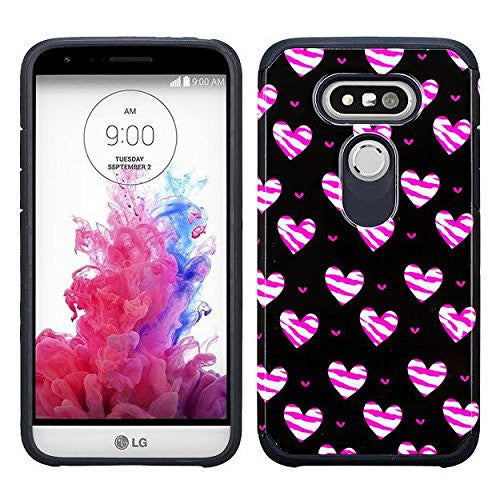 lg g5 hybrid case - striped hearts - www.coverlabusa.com