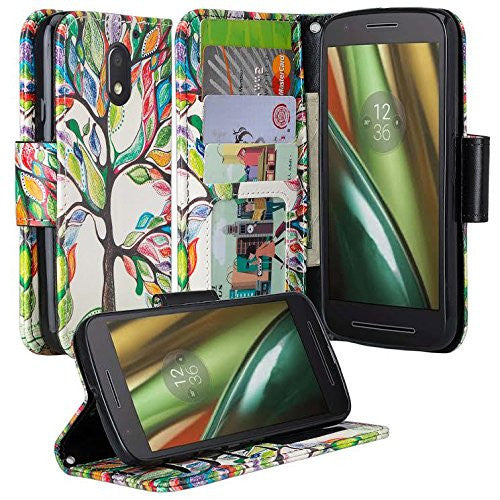 motorola Moto G4 Case | Moto G4 Plus leather wallet magnetic fold case - vibrant tree - www.coverlabusa.com
