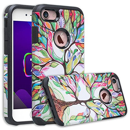 iPhone 8 case, iPhone 8 hybrid case - colorful tree - www.coverlabusa.com
