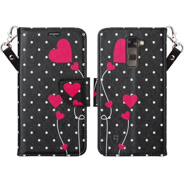 LG Stylo 2 Plus Wallet Case - polka dots - www.coverlabusa.com