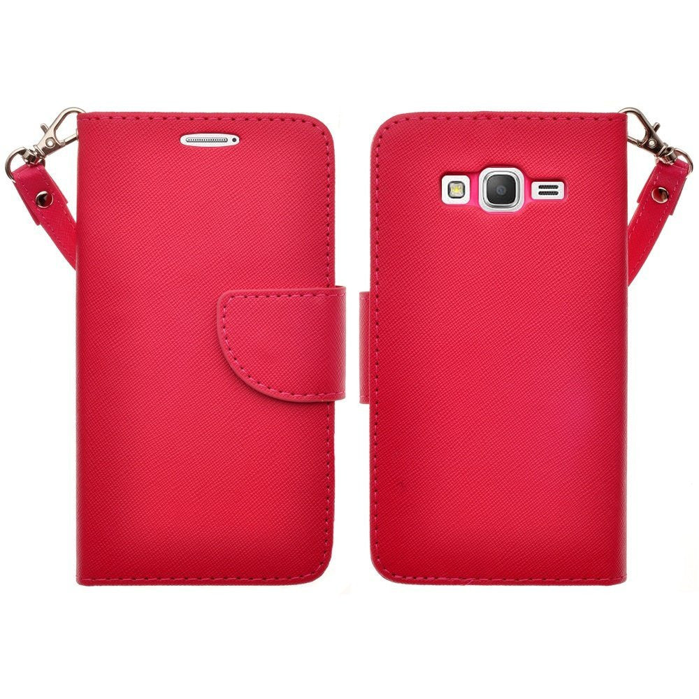 galaxy core prime wallet case - hot pink - www.coverlabusa.com