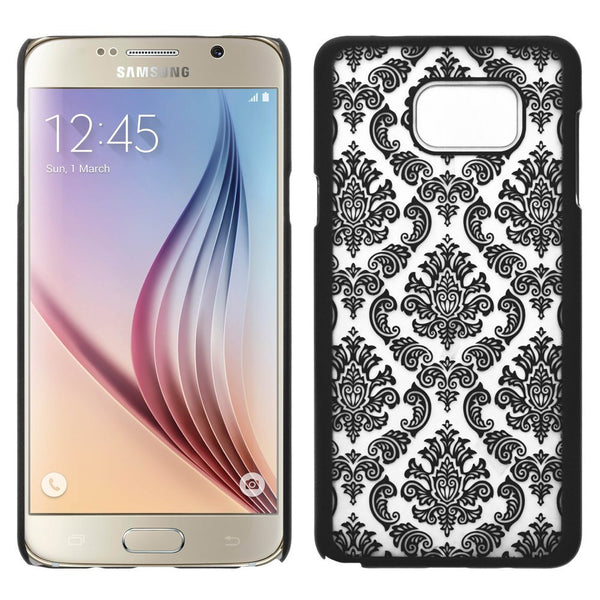 Samsung Galaxy Note 5 Case, Ultra Slim Damask Vintage Hard Case Cover - Black - www.coverlabusa.com