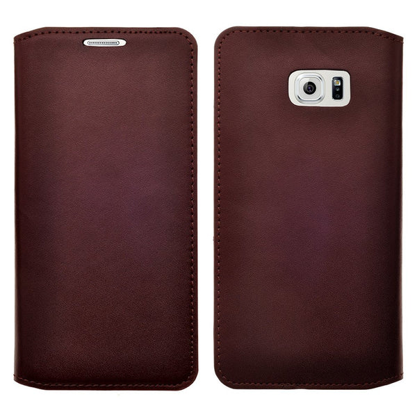 galaxy S6 Edge Plus case, galaxy S6 Edge Plus real leather case - Brown - www.coverlabusa.com