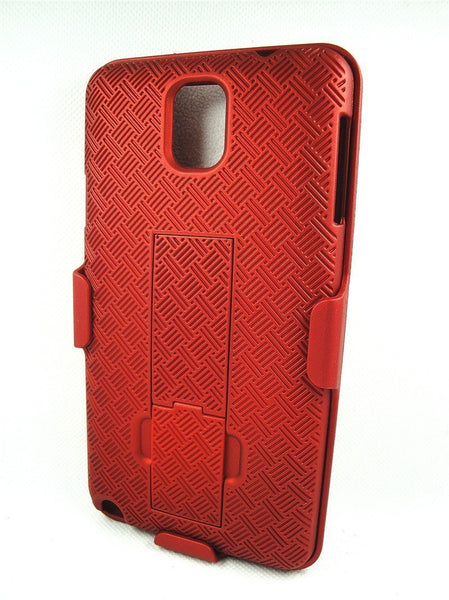 Samsung Galaxy Note 3 Holster Shell Clip Case - www.coverlabusa.com - red