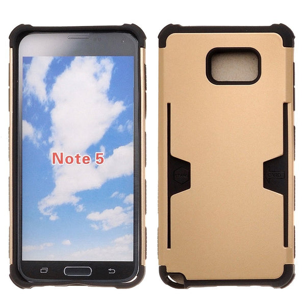samsung galaxy note 5 case - gold hybrid with card slot - www.coverlabusa.com
