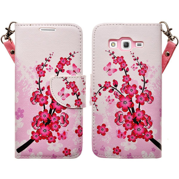 Galaxy Go Prime / Grand Prime Wallet Case, cherry blossom www.coverlabusa.com