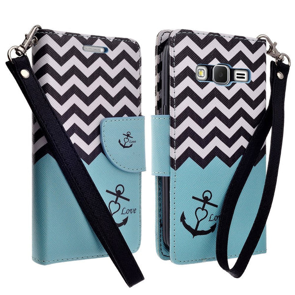 Galaxy Go Prime / Grand Prime Wallet Case, TEAL ANCHOR www.coverlabusa.com
