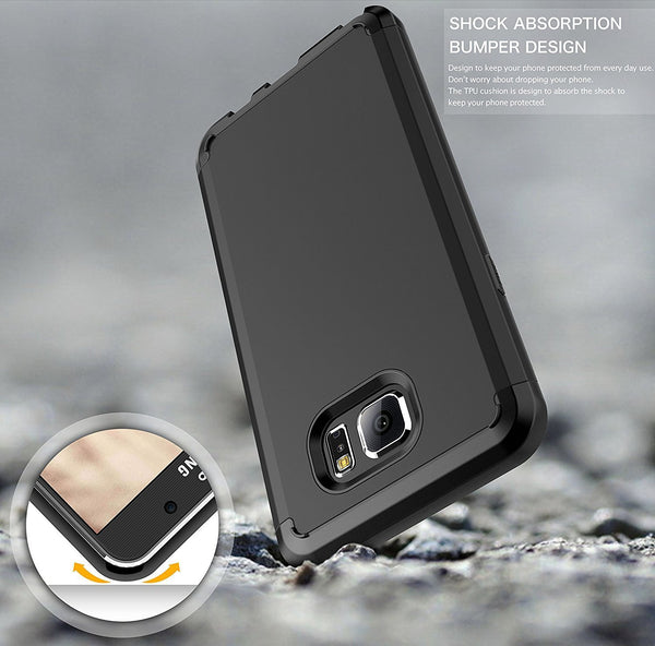 samsung galaxy note 5 case - black hybrid - www.coverlabusa.com