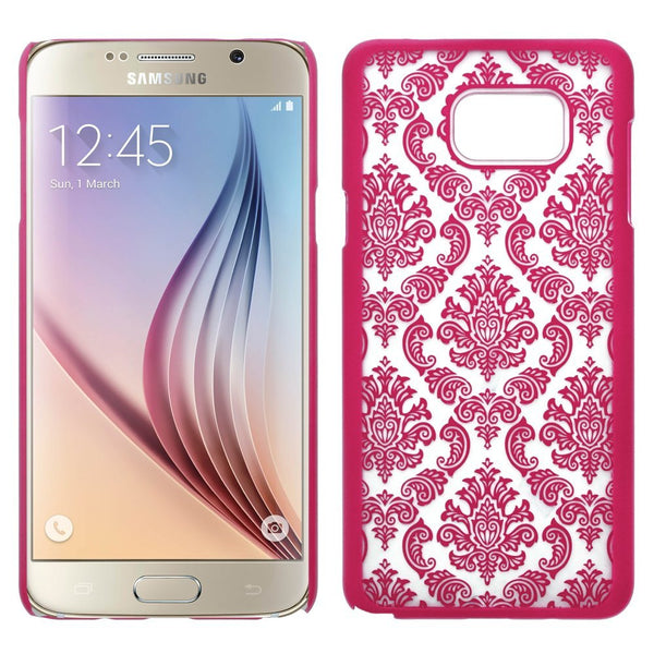 Samsung Galaxy Note 5 Case, Ultra Slim Damask Vintage Hard Case Cover - Red - www.coverlabusa.com