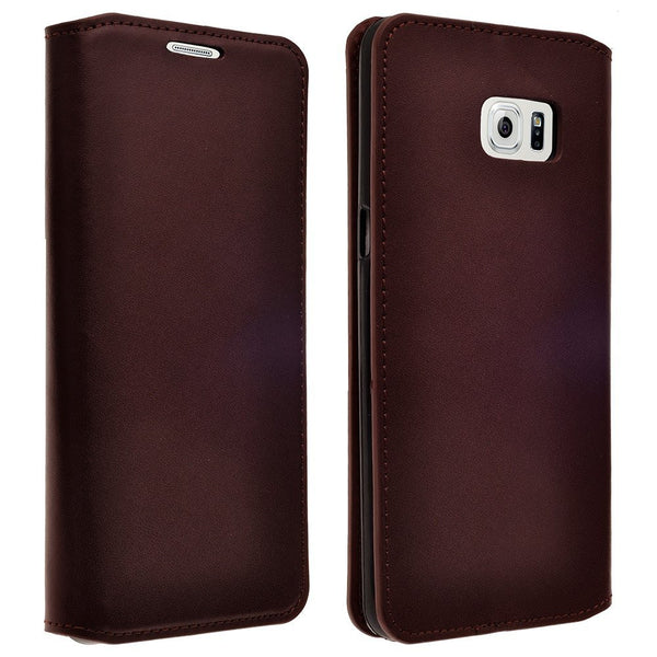 samsung galaxy note 5 case - genuine leather wallet - Brown - www.coverlabusa.com