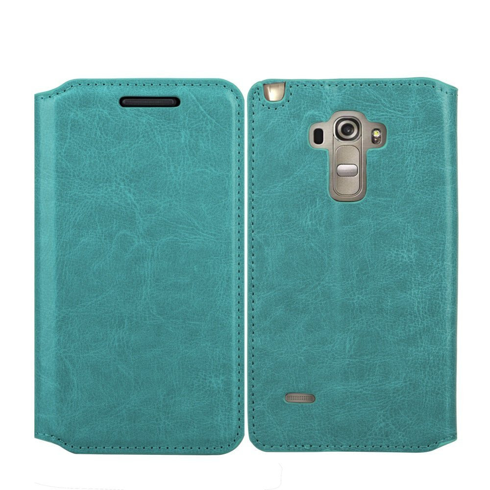 LG G Stylo Case, LG G Vista 2 Case Leather Wallet Case - Teal - www.coverlabusa.com