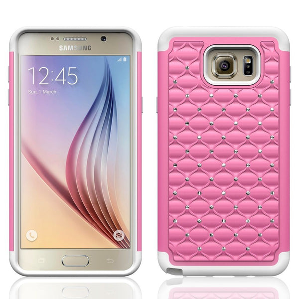 samsung note 5 case - diamond hybrid - pink white - www.coverlabusa.com