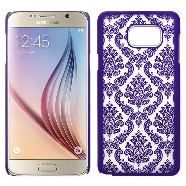Samsung Galaxy Note 5 Case, Ultra Slim Damask Vintage Hard Case Cover - Purple - www.coverlabusa.com