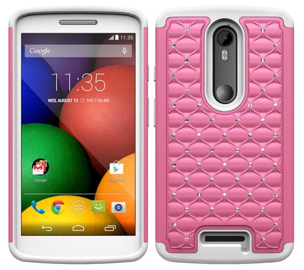 Motorola Droid Turbo 2 Case | Moto X Force Case | Kinzie Bounce Rhinestone Case - pink - www.coverlabusa.com