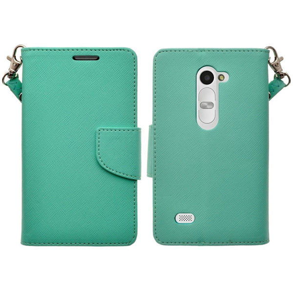 LG Leon LTE Case | Lg Tribute 2 Case | LG Power | LG Sunset | LG Destiny | LG Risio leather wallet Case - teal  - www.coverlabusa.com