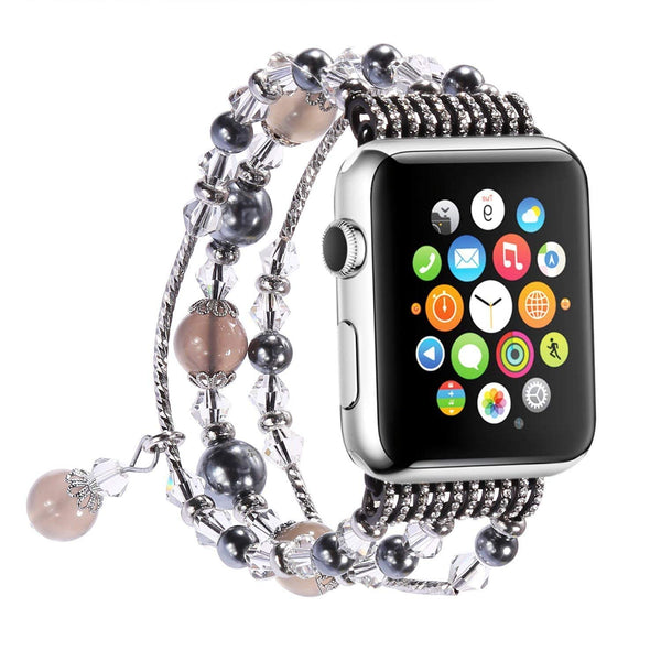 Apple Watch Band,Pearl Elastic Stretch 38mm - Grey - www.coverlabusa.com