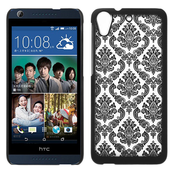 HTC Desire 626 Damask Case Cover - Black - www.coverlabusa.com