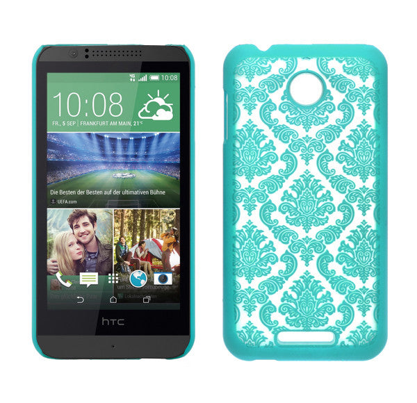 HTC Desire 510 Damask Case Cover - Teal - www.coverlabusa.com
