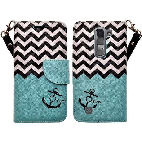 lg volt2 wallet case - teal anchor - www.coverlabusa.com