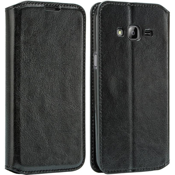 GO PRIME / GRAND PRIME WALLET CASE, BLACK leather WWW.COVERLABUSA.COM