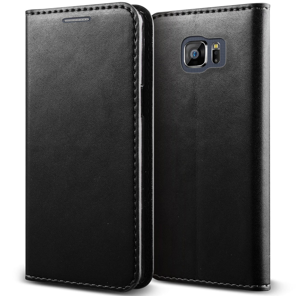 samsung galaxy note 5 case - genuine leather wallet - Black - www.coverlabusa.com