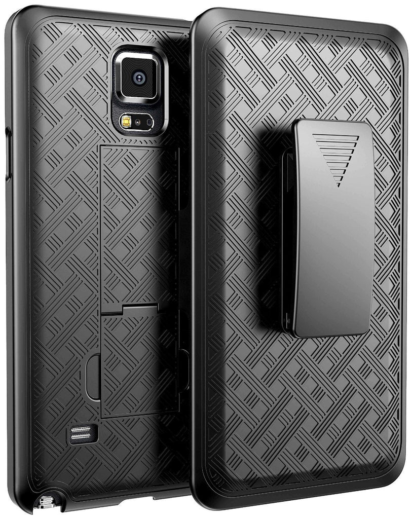 pretty nice d3b07 c5949 Galaxy Note 4 Case, Rugged Rotating Belt Clip Slim Holster Shell Combo Case  for Samsung Galaxy Note 4 - Black