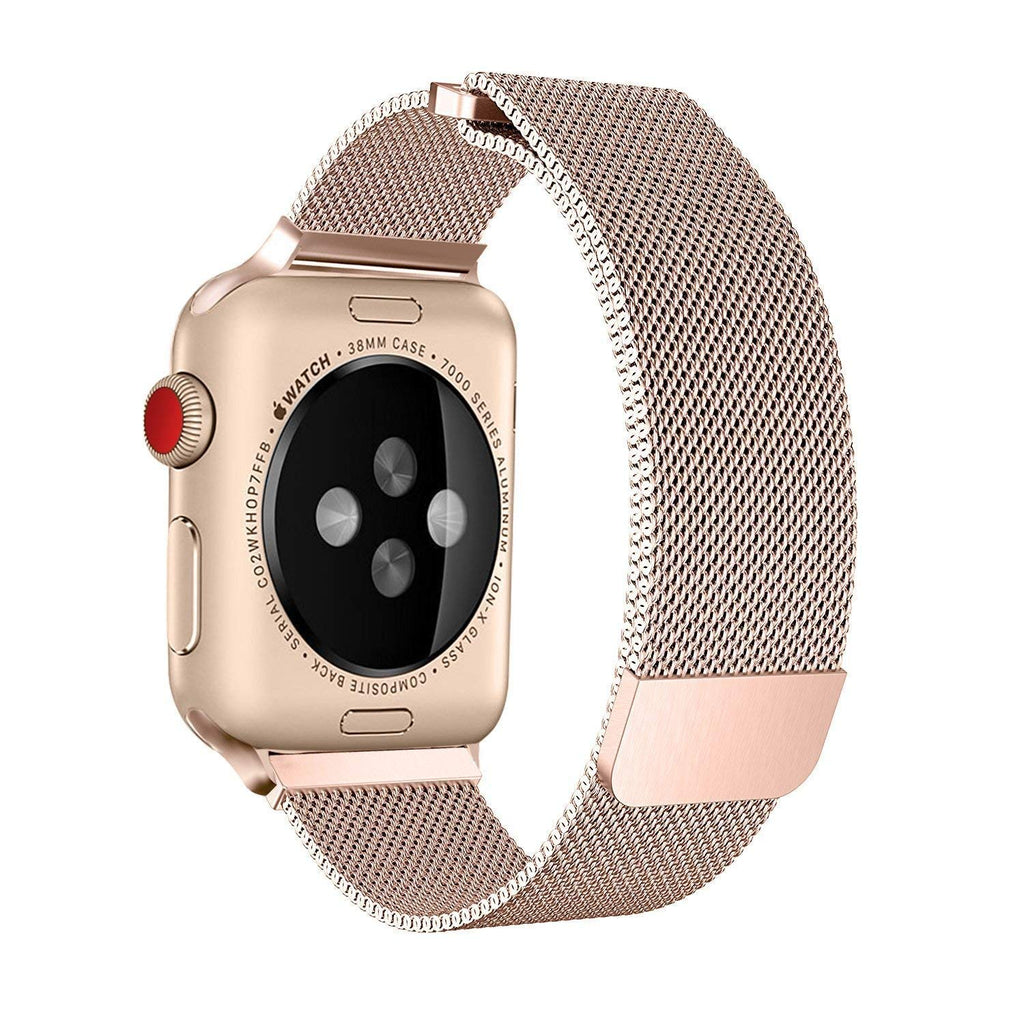 10fea9a5061 Apple iWatch Band Stainless Steel Mesh Milanese Loop - Rose Gold -  www.coverlabusa.
