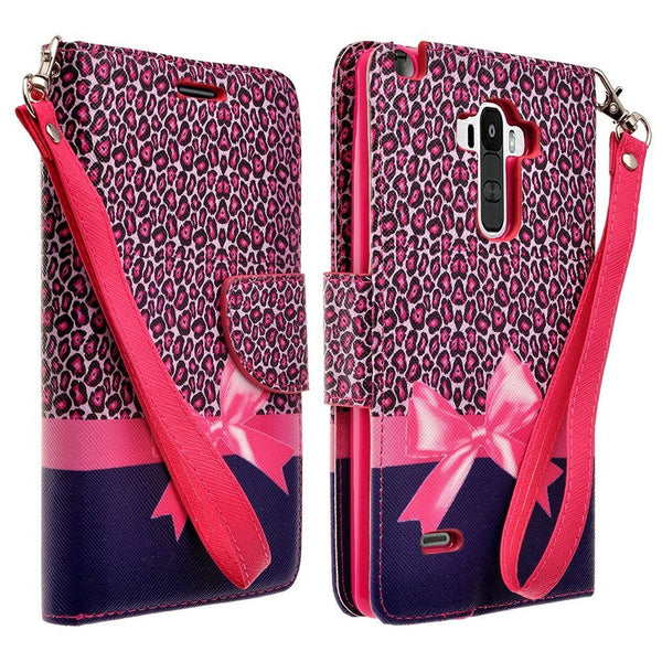 LG G Stylo Case, LG G Vista 2 Case Leather Wallet Case - Cheetah Prints - www.coverlabusa.com