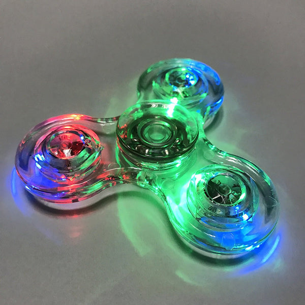 led fidget spinner - clear - www.coverlabusa.com