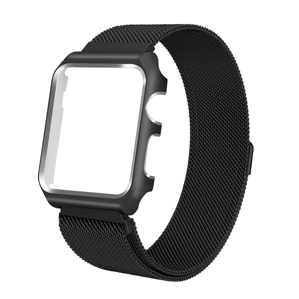 Apple iWatch Band Stainless Steel Mesh Milanese Loop - 42mm - Black - www.coverlabusa.com