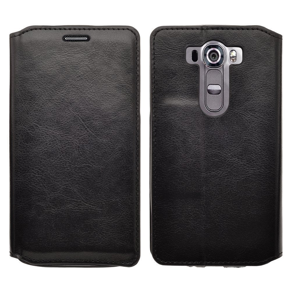 LG G Stylo Case, LG G Vista 2 Case Leather Wallet Case - Black - www.coverlabusa.com