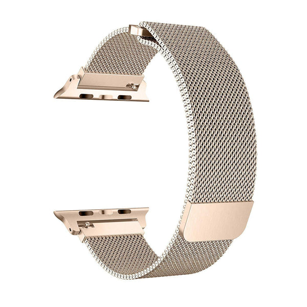 Apple iWatch Band Stainless Steel Mesh Milanese Loop - Gold - www.coverlabusa.com