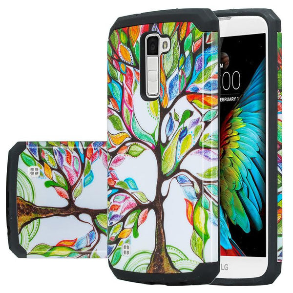 LG K10 / LG Premier LTE Case, Protective Hybrid, Colorful Tree WWW.COVERLABUSA.COM