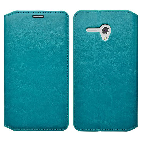 Alcatel Pixi Glory, Flint Case, Fierce XL, Jitterbug Smart Wallet Case - turquoise - WWW.COVERLAB.USA