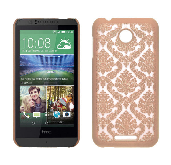 HTC Desire 510 Damask Case Cover - Rose Gold - www.coverlabusa.com