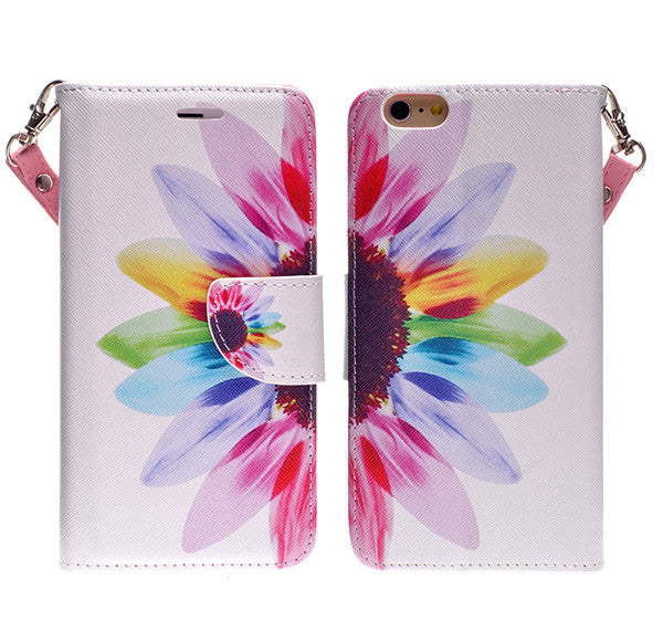 iphone 6 plus case, iphone 6 plus wallet case - sunflower - www.coverlabusa.com