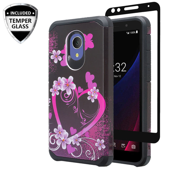 alcatel 1x evolve hybrid case - heart butterflies - www.coverlabusa.com