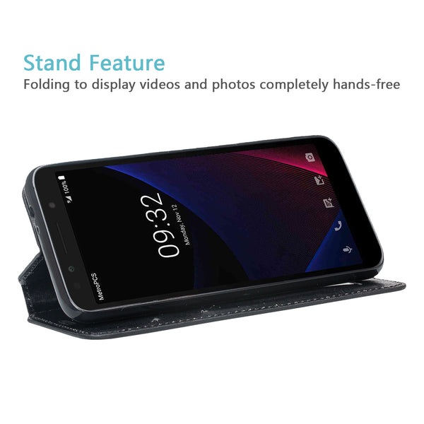 Alcatel 1x Evolve Wallet Case - black - www.coverlabusa.com