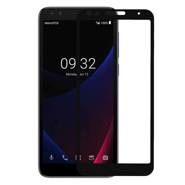 alcatel 1x evolve screen protector tempered glass - black - www.coverlabusa.com