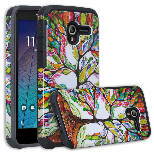 Alcatel TRU Case | Alcatel Stellar Hybrid Case - Colorful Tree - www.coverlabusa.com
