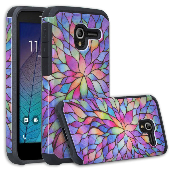 Alcatel TRU Case | Alcatel Stellar Hybrid Case - Rainbow Flower - www.coverlabusa.com